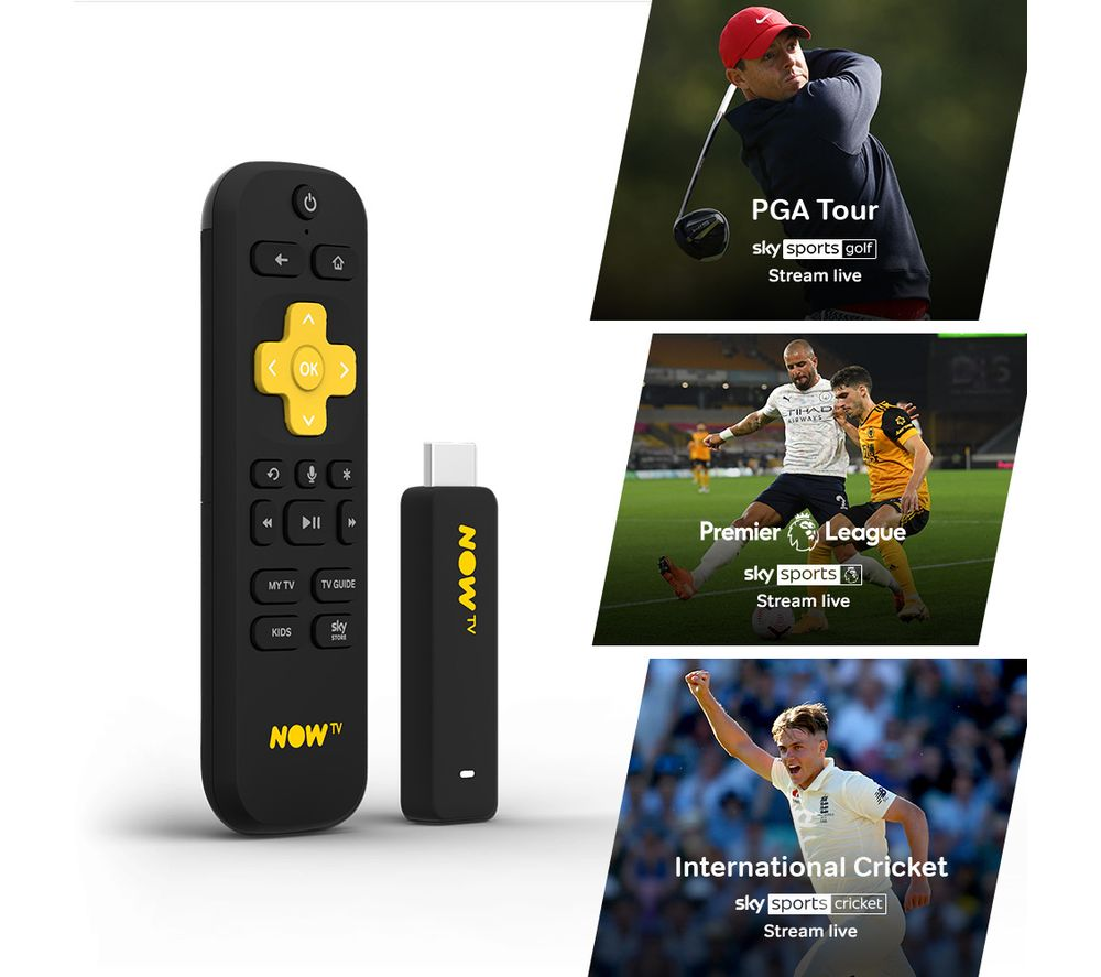 NOW TV Smart Stick with 3 Month Sports Pass