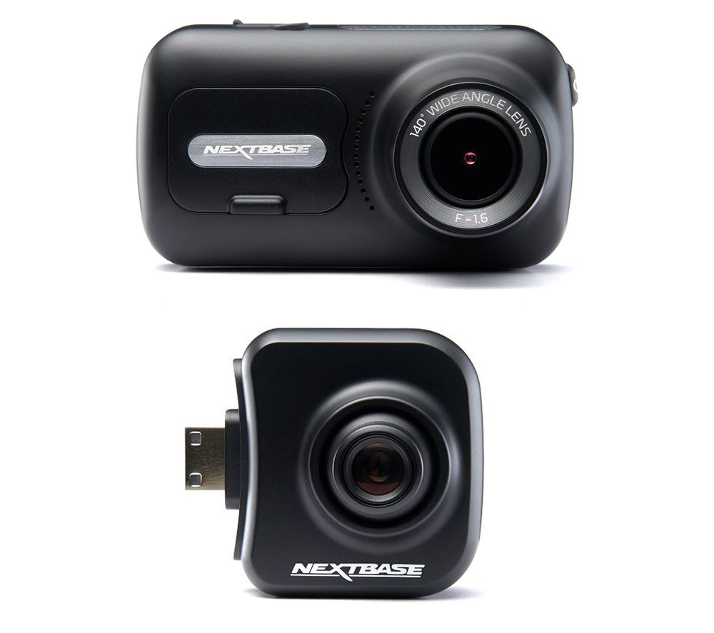 Image of NEXTBASE 322GW Full HD Dash Cam & Cabin View Quad HD Dash Cam Bundle - Black, Black