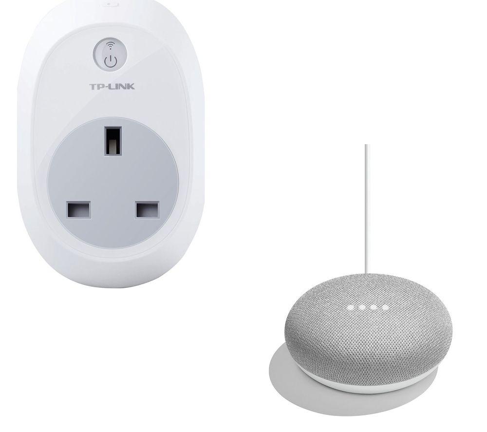GOOGLE Home Mini & Kasa HS100 V2.1 Smart Plug Bundle