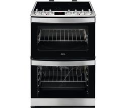 AEG CCB6761ACM 60 cm Electric Ceramic Cooker - Stainless Steel Best Price, Cheapest Prices