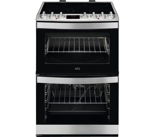 Image of AEG CCB6761ACM 60 cm Electric Ceramic Cooker - Stainless Steel