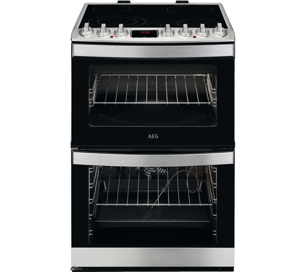 AEG CCB6761ACM 60 cm Electric Ceramic Cooker - Stainless Steel