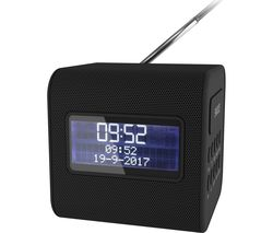 KITSOUND Cube Portable DAB+/FM Clock Radio - Black