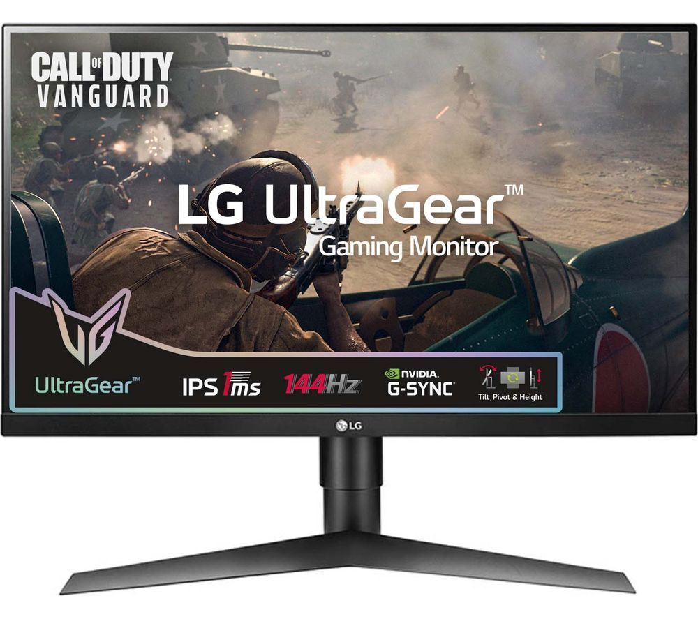 "LG Ultragear 27GL650F 27"" Full HD IPS LCD Gaming Monitor - Black"