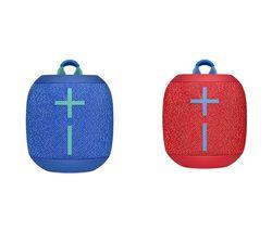 ULTIMATE EARS WONDERBOOM 2 Portable Bluetooth Speaker Red & Blue Bundle