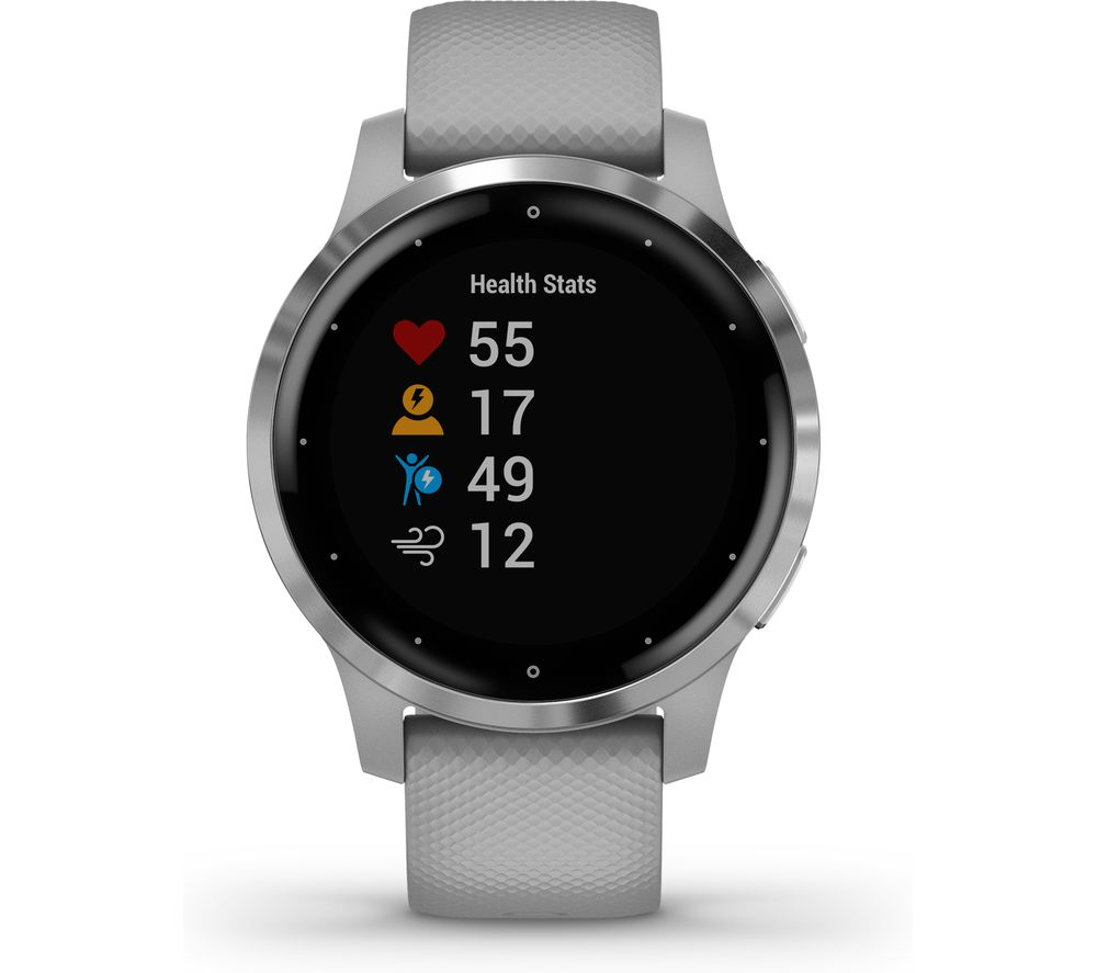 GARMIN Vivoactive 4S - Powder Grey & Silver, Small