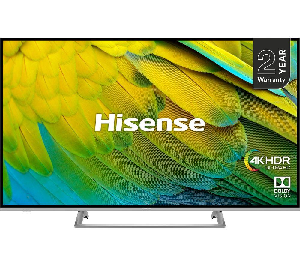 """HISENSE H65B7500UK 65"""" Smart 4K Ultra HD HDR LED TV"""
