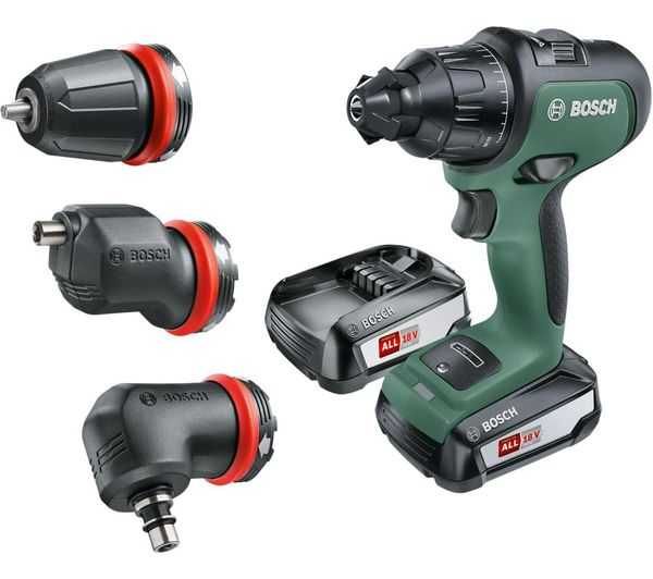 Bosch Cordless Drill AdvancedImpact 18 (1 Battery, 18 V System, 3 Attachments, in Carrying Case)