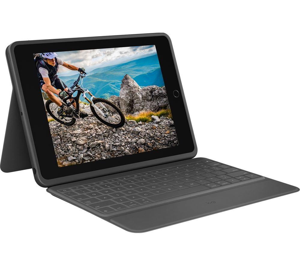 "LOGITECH Rugged 10.2"" iPad Keyboard Folio - Black"
