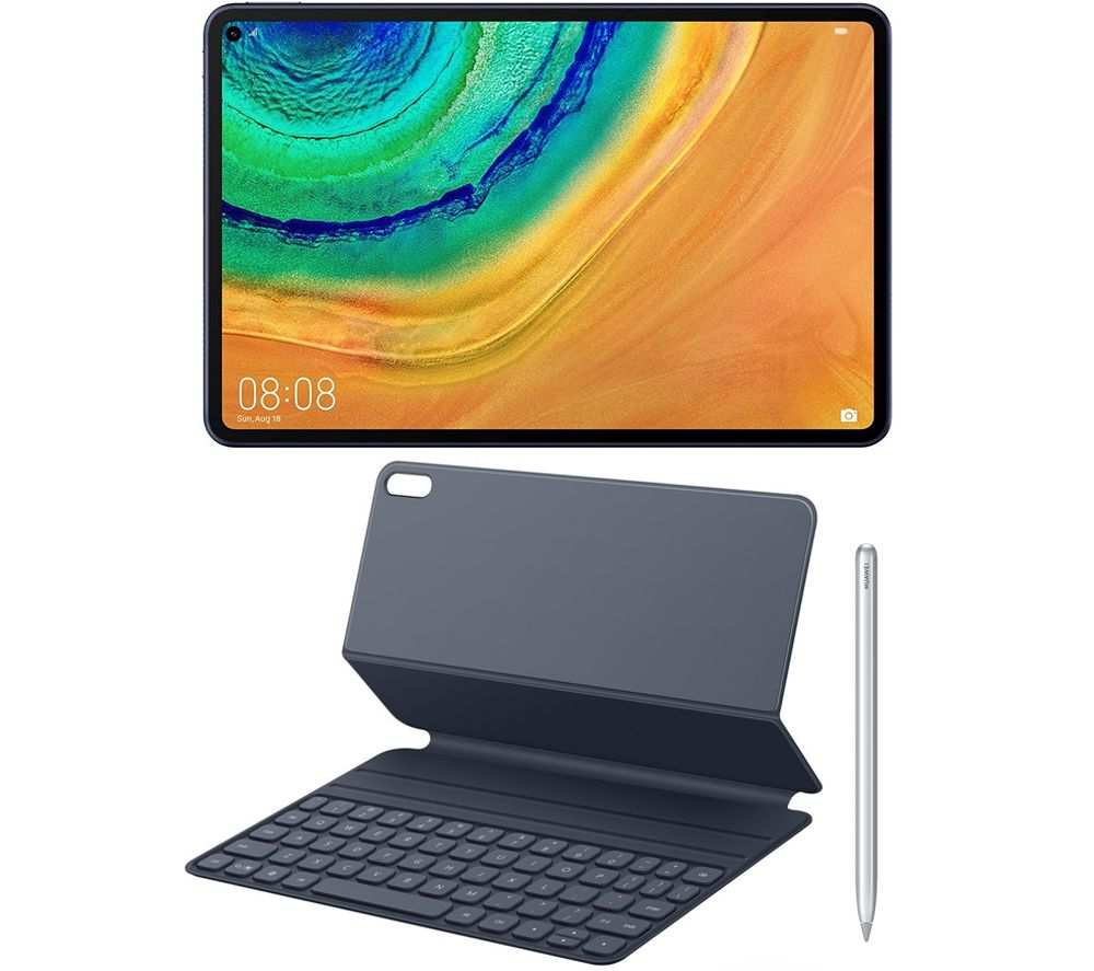 "Image of HUAWEI MatePad Pro 10.8"" 128 GB Tablet, Smart Pen & Smart Keyboard Case Bundle, Blue"