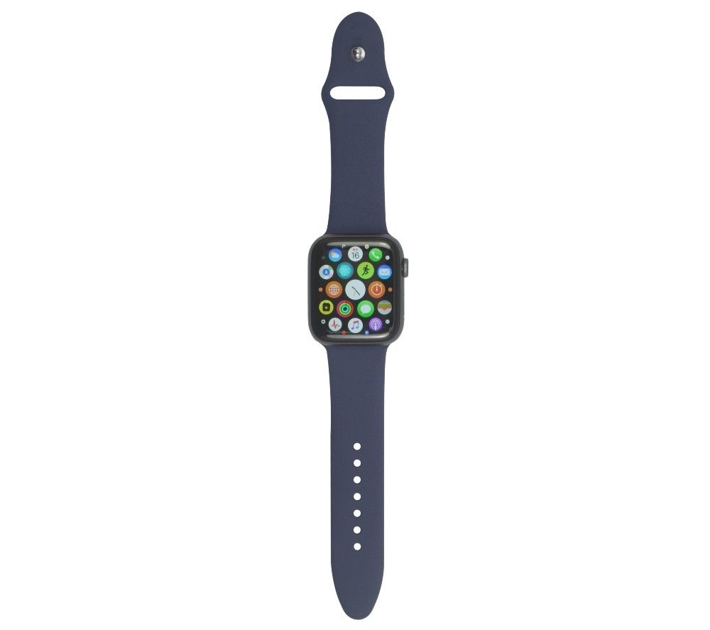 XQISIT Apple Watch 42 / 44 mm Silicone Strap - Blue, Small, Blue