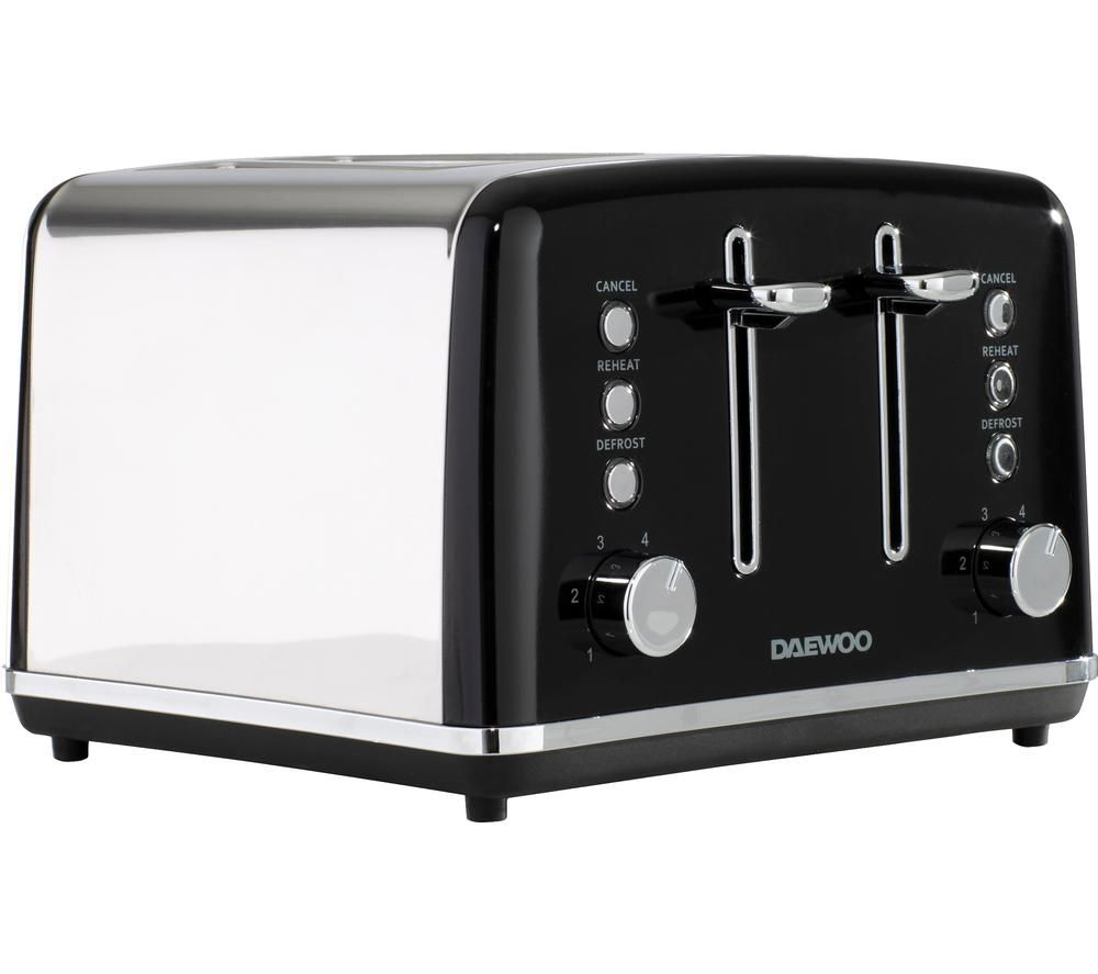 DAEWOO Kensington SDA1586 4-Slice Toaster - Black