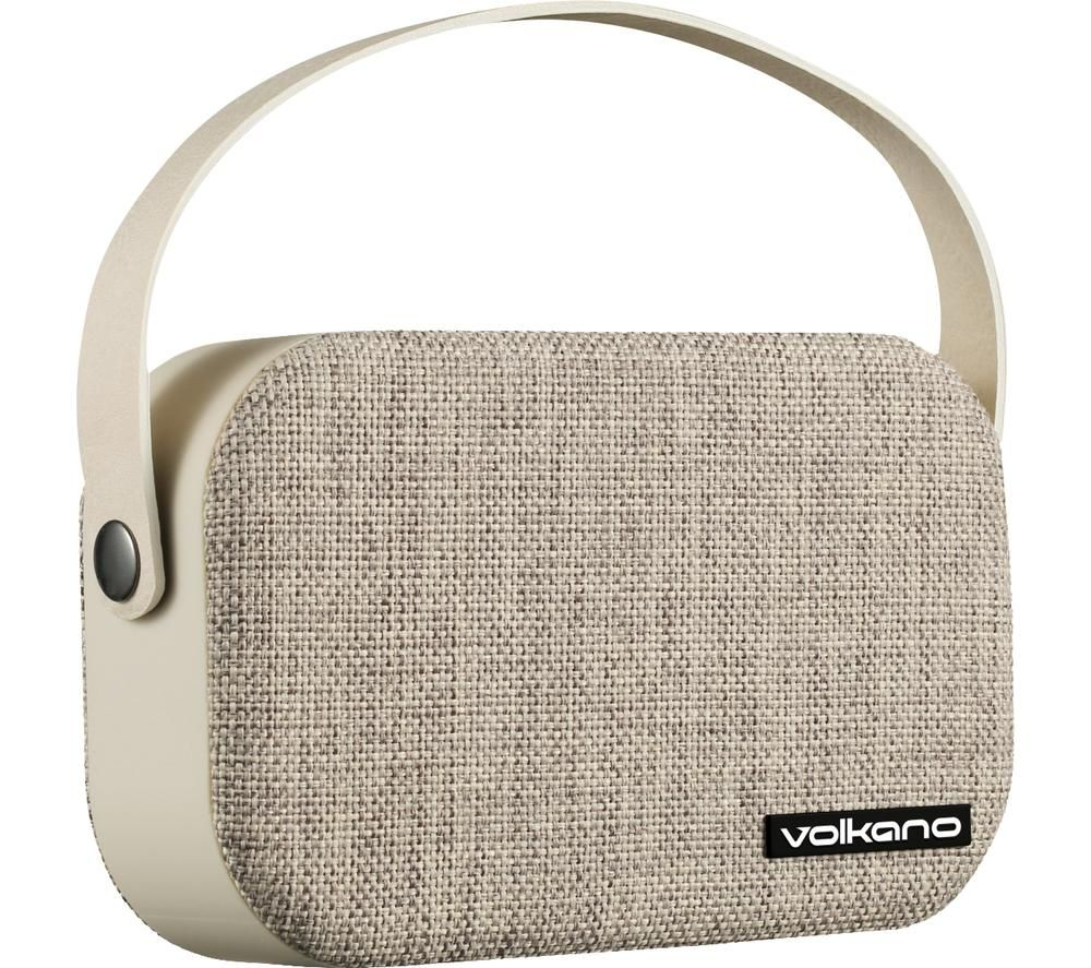 VOLKANO Fabric Series VK-3020-GRL Portable Bluetooth Speaker - Beige, Beige
