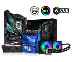 Intel® Core i9 Processor, ROG STRIX Motherboard, 16 GB RAM & Corsair RGB Cooler Components Bundle