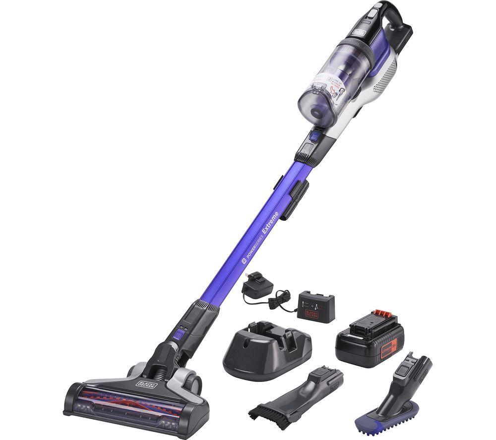 BLACK + DECKER POWERSERIES Extreme Pet 4-in-1 BHFEV362DP-GB Cordless Vacuum Cleaner - Purple & Grey, Black