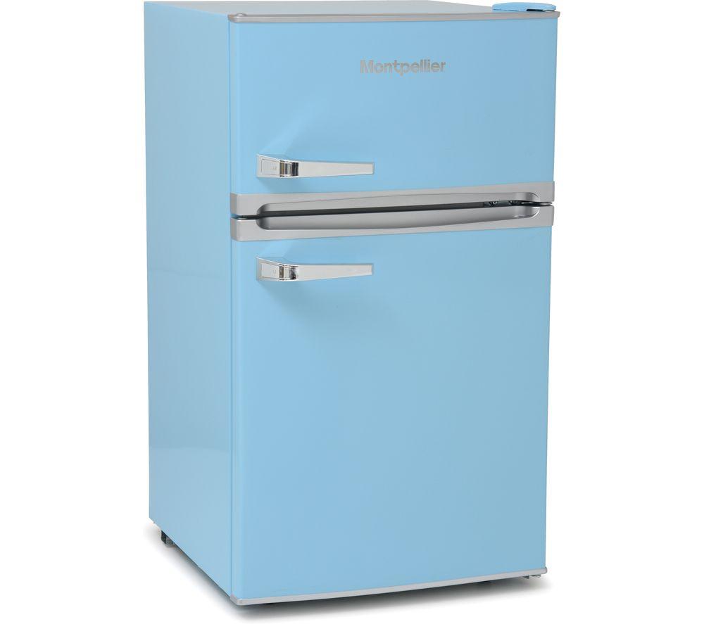 MONTPELLIER Retro MAB2035PB Undercounter Fridge Freezer - Pastel Blue