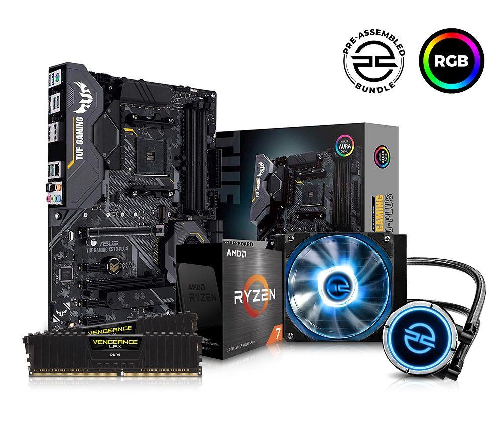 Image of PC SPECIALIST AMD Ryzen 7 Processor, TUF Gaming Motherboard, 16 GB RAM & FrostFlow Liquid Cooler Components Bundle