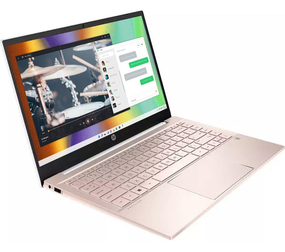 """Image of HP Pavilion 14-dv0596sa 14"""" Laptop - Intel®Core™ i3, 256 GB SSD, Pink & Silver, White"""