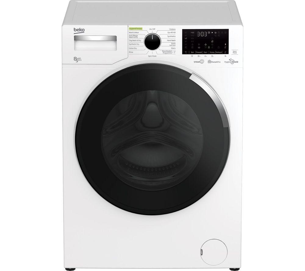BEKO HygieneShield WDEY854044HW Bluetooth 8 kg Washer Dryer - White