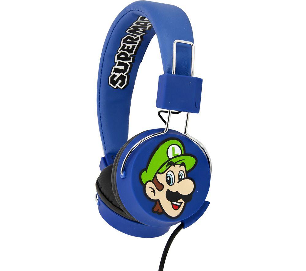 OTL SM0655 Super Mario and Luigi Kids Headphones - Blue