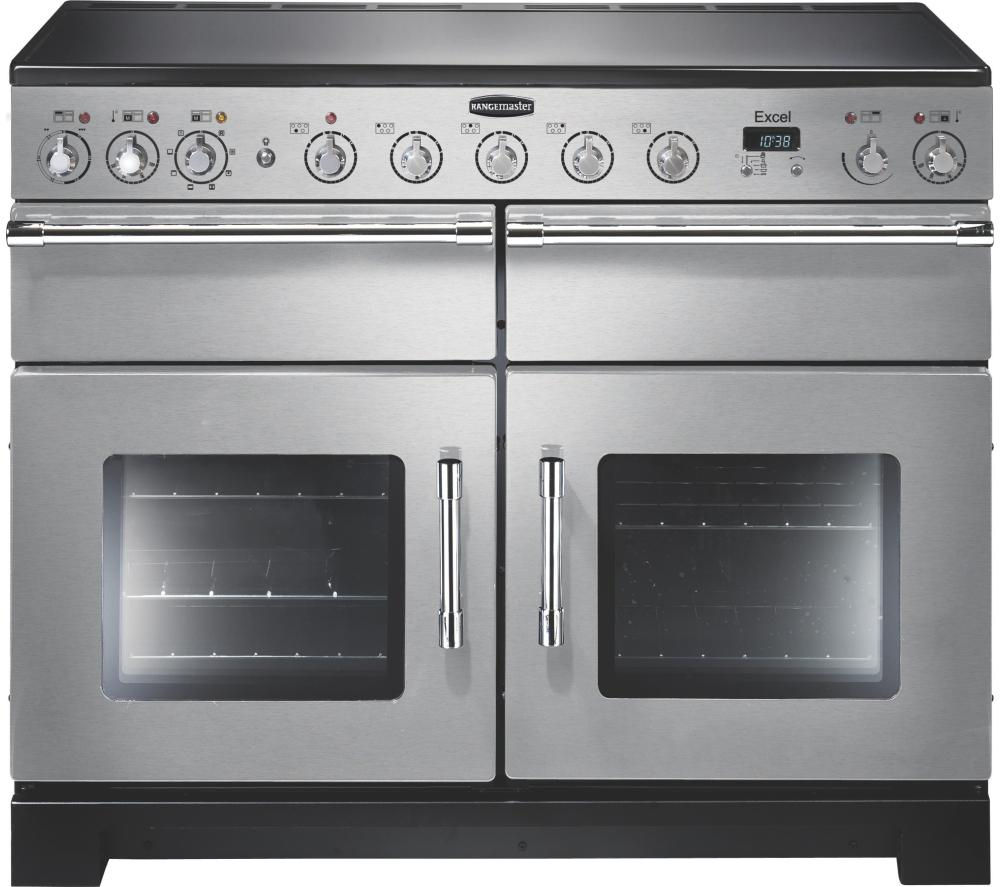Superior RANGEMASTER Excel 110 Electric Induction Range Cooker   Stainless Steel