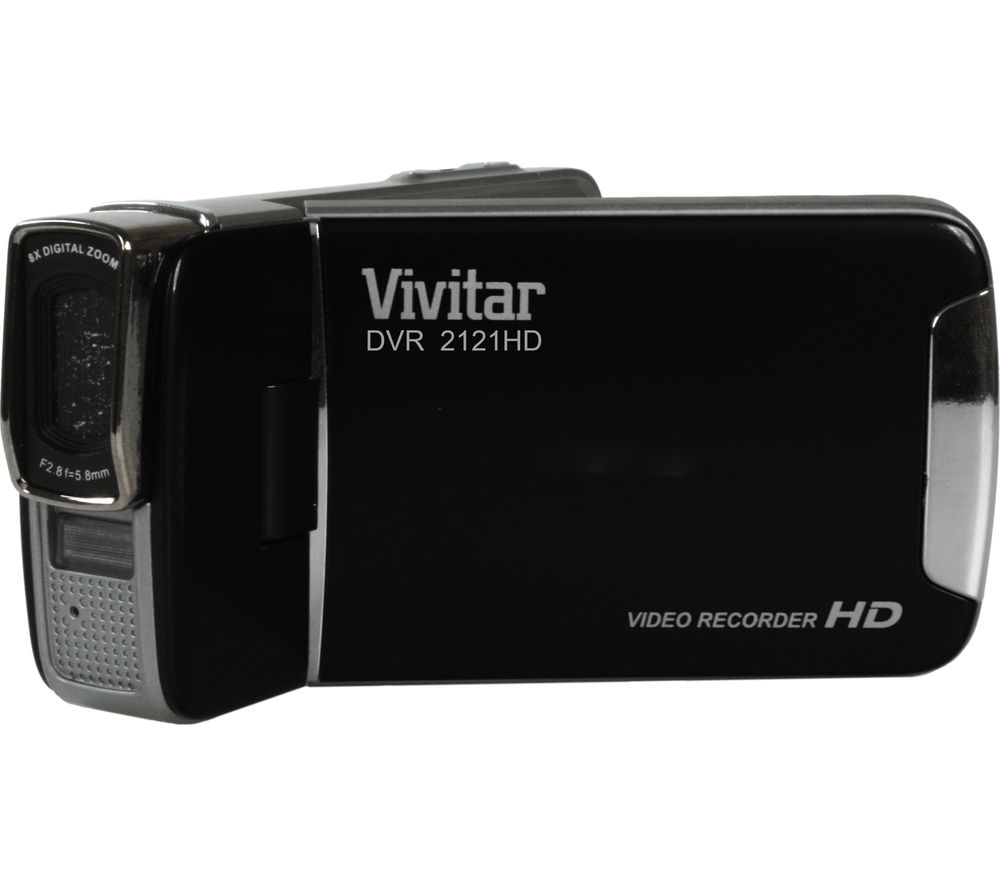VIVITAR DVR2121 Camcorder - Black + Adventura SH110 ll Camcorder Case - Black