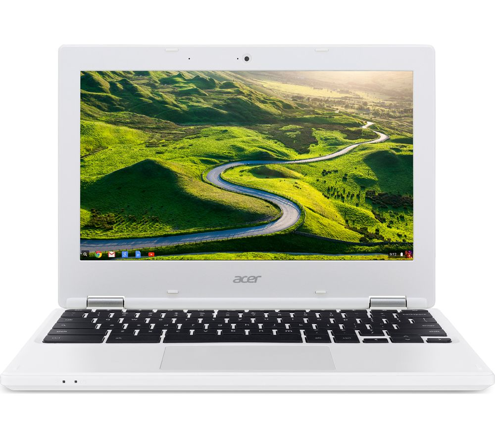 """ACER CB3-131 11.6"""" Chromebook - White + Cloud Storage for Tablets & Mobiles - 200 GB, 1 year"""