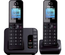 PANASONIC KX-TG8182EB Cordless Phone with Answering Machine - Twin Handsets