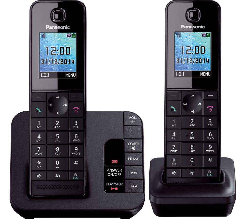 buy panasonic kx tg8182eb cordless phone with answering machine rh currys co uk TV Guide Plus RCA Guide Plus TV