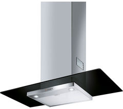 SMEG KFV92DNE Chimney Cooker Hood - Black Glass & Stainless Steel