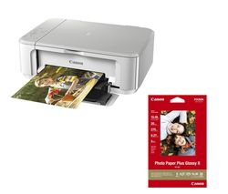 CANON PIXMA MG3650 All-in-One Wireless Inkjet Printer & Photo Paper Bundle
