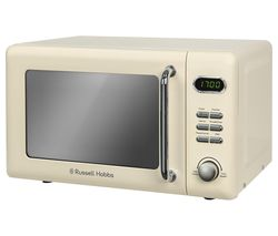 RUSSELL HOBBS RHRETMD706C Compact Solo Microwave - Cream Best Price, Cheapest Prices