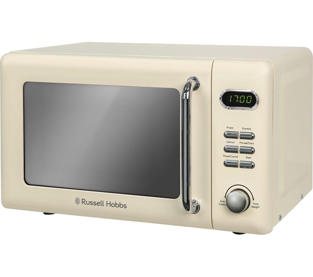 RUSSELL HOBBS RHRETMD706C Compact Solo Microwave - Cream, Cream