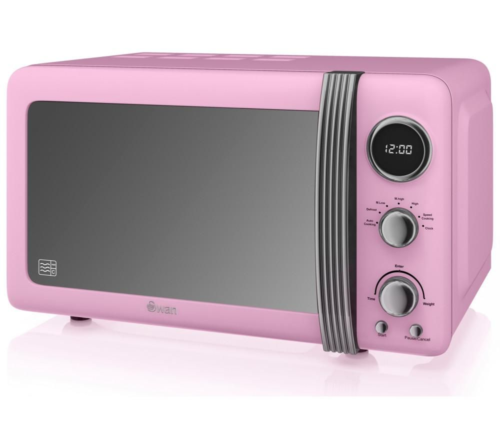 Buy Swan Retro Sm22030pn Solo Microwave Pink Free