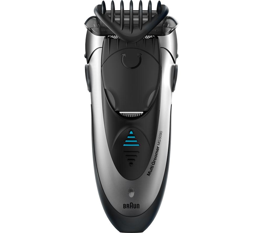 BRAUN Multi Groomer MG5090 Wet & Dry Foil Shaver - Black & Silver