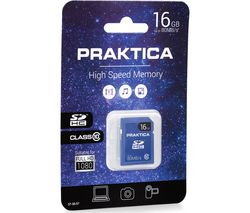 PRAKTICA High Performance Class 10 SDHC Memory Card - 16 GB