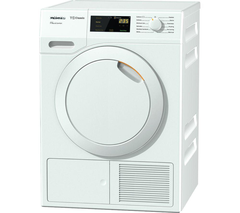 MIELE Eco & Comfort TDD130WP Heat Pump Tumble Dryer - White
