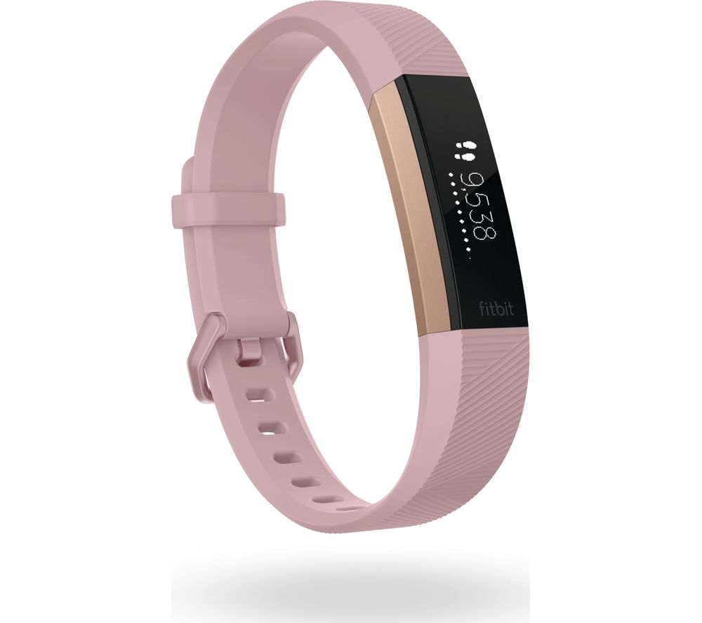 Compare prices for Fitbit Alta HR SE - Pink Rose Gold - Large