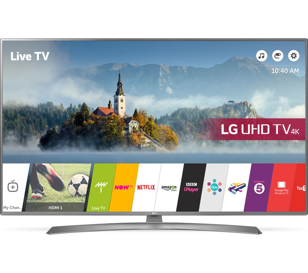 "LG 55UJ670V 55"" Smart 4K Ultra HD HDR LED TV + SFLEZ14 Medium to Large Fixed TV Bracket"