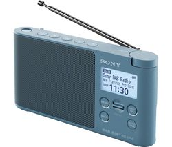 SONY XDR-S41D Portable DAB+/FM Clock Radio - Blue