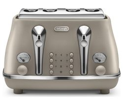 DELONGHI Elements CTOE4003.BG 4-Slice Toaster - Beige