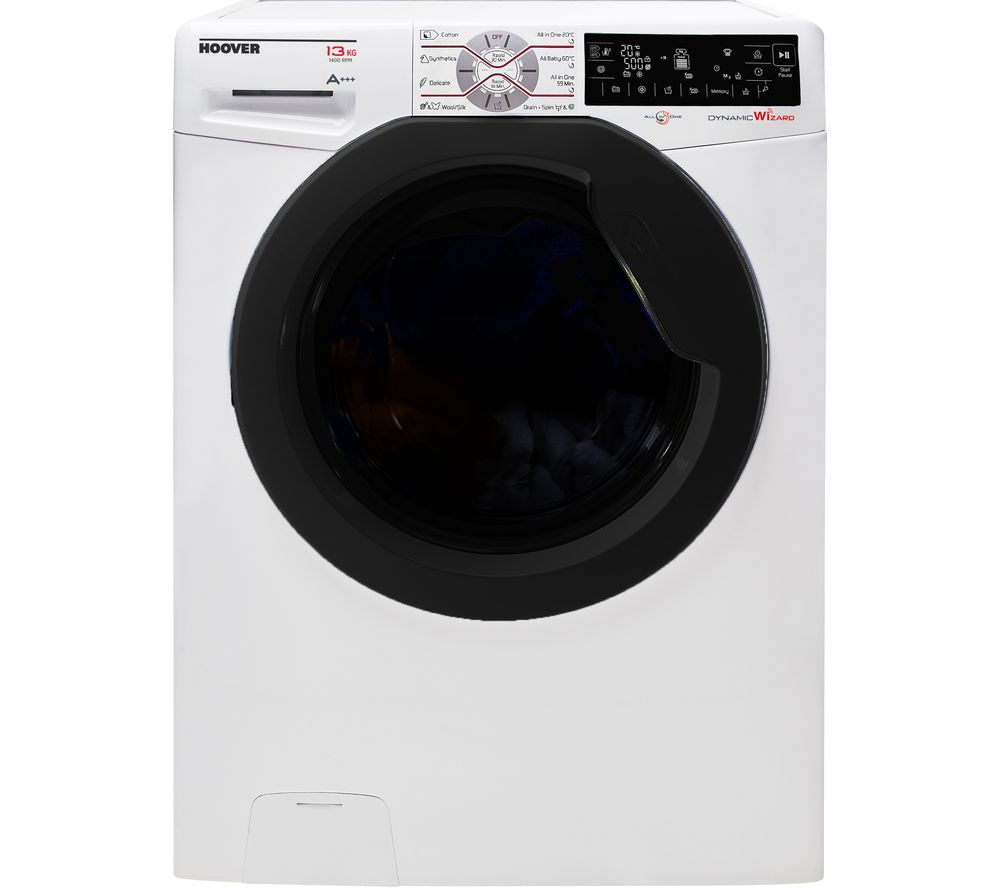 Compare retail prices of Hoover Dynamic Extreme DWFT413AH8 Smart NFC 13 kg 1400 Spin Washing Machine to get the best deal online
