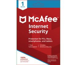 MCAFEE Internet Security 2018 - 1 user / 1 device for 1 year