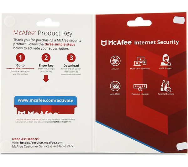 Buy Mcafee Internet Security 2018 1 Year For 1 Device