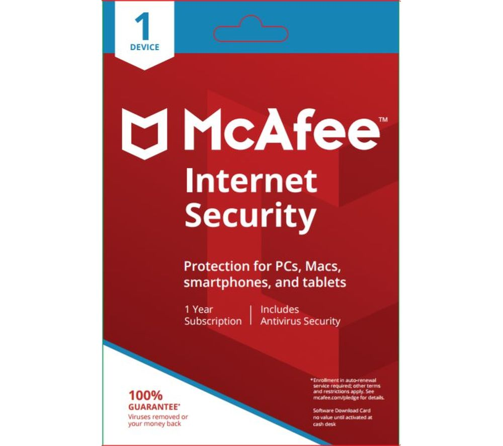 Compare retail prices of Mcafee Internet Security 1 user - 1 device for 1 year to get the best deal online