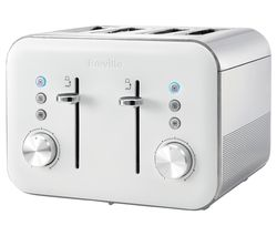 BREVILLE High Gloss VTT687 4-Slice Toaster - White