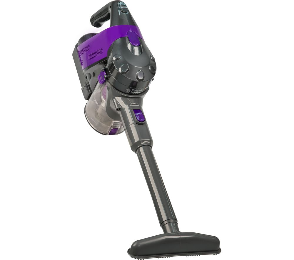 RUSSELL HOBBS RHHS2202 Cordless Bagless Vacuum Cleaner - Grey & Purple