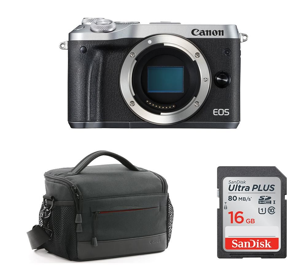 Compare prices for Canon EOS M6 Mirrorless Camera and Accessories Bundle