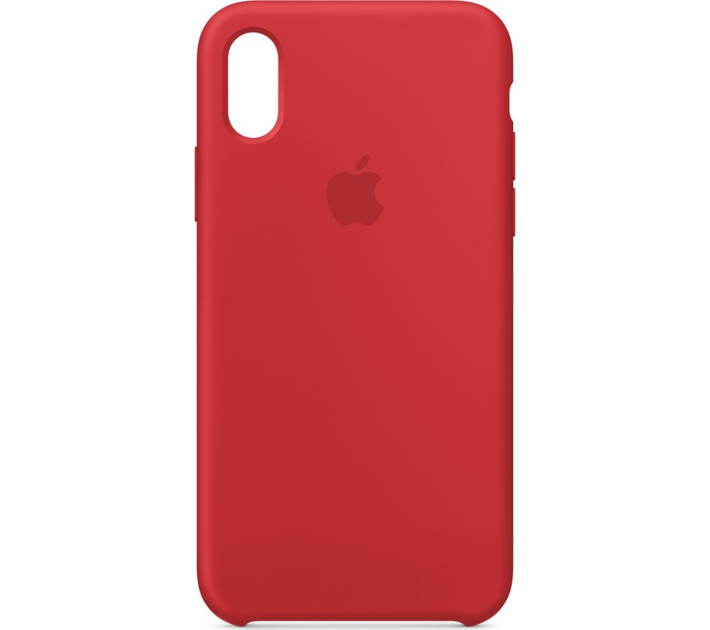 APPLE iPhone X Silicone Case - Red, Red cheapest retail price