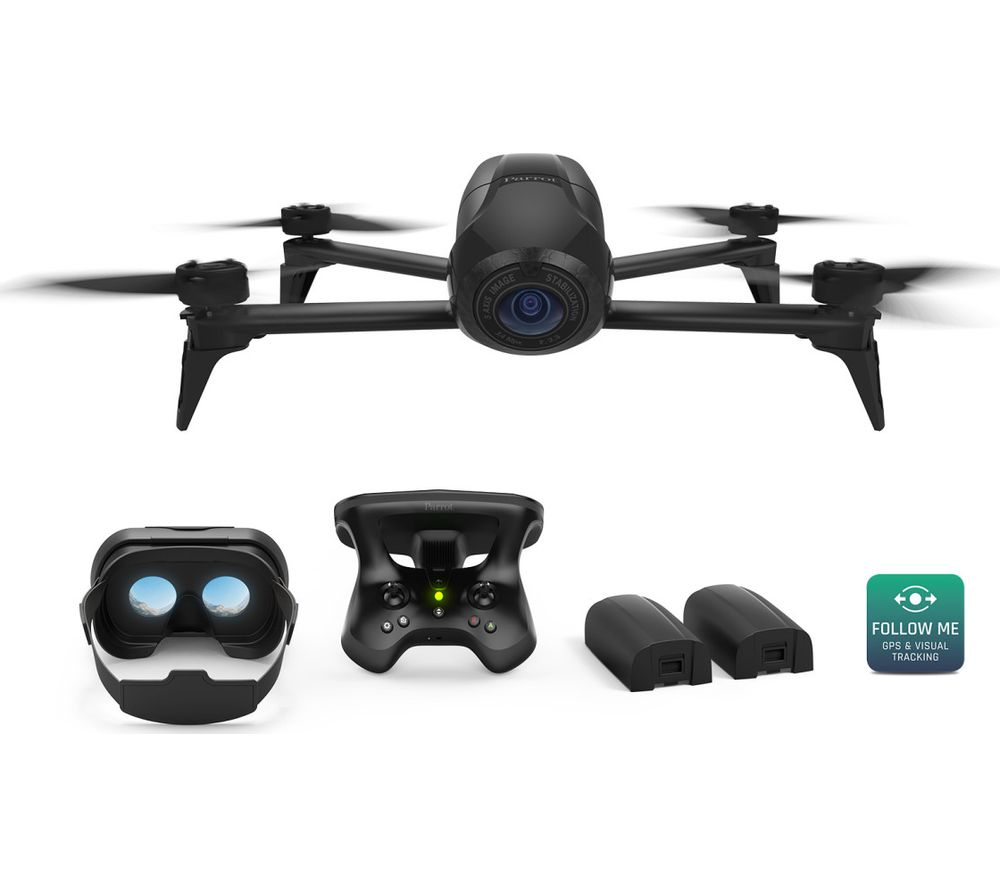 buy parrot bebop 2 fpv power edition drone with skycontroller 2 black free delivery currys